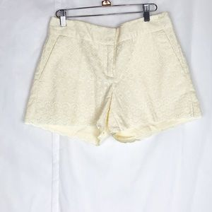 Loft yellow lace shorts